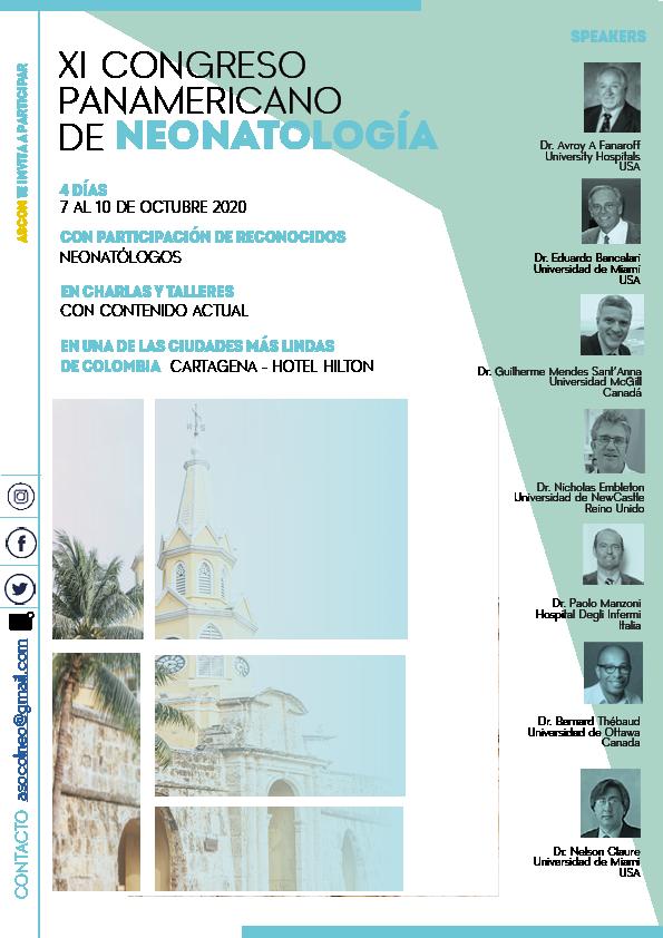 Brochure XI Congreso panamericano neonatología 1