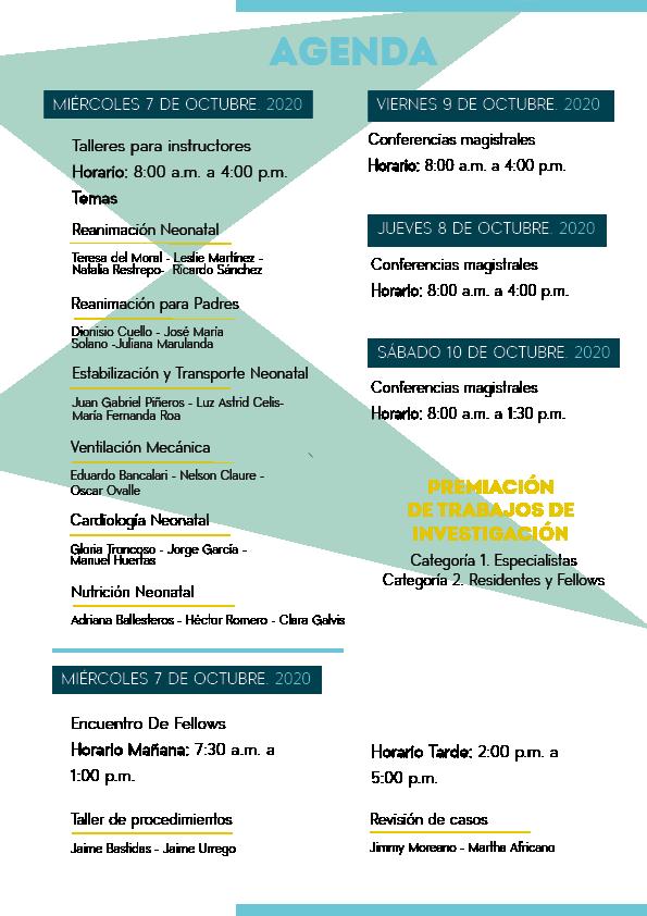 Brochure XI Congreso panamericano neonatología 2